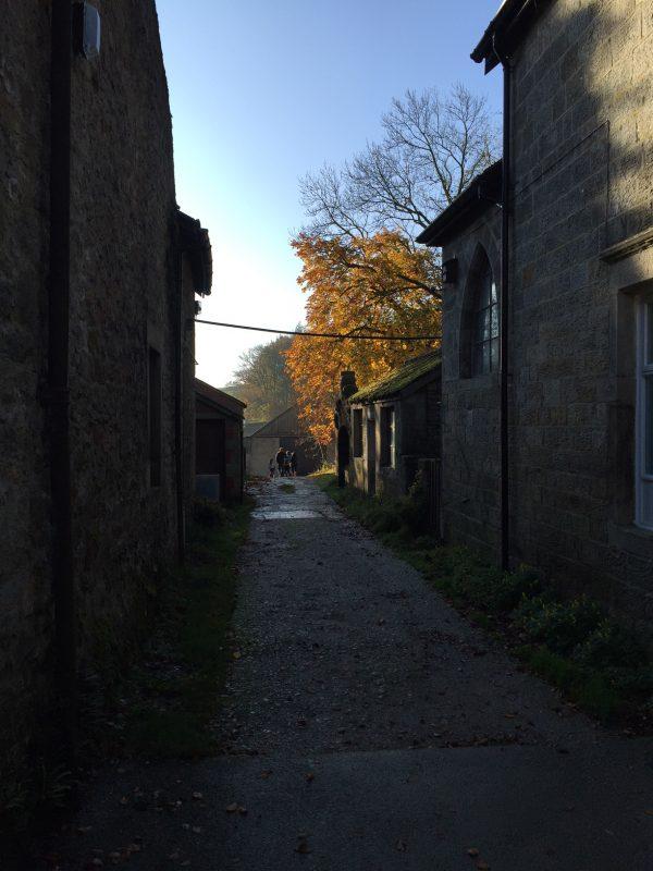 route through the farmyard