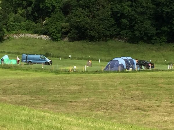 Campsite pitches for tents and camper vans